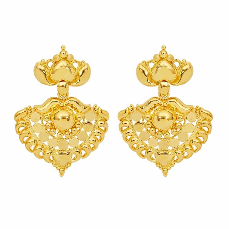 Gold earrings studs for girls