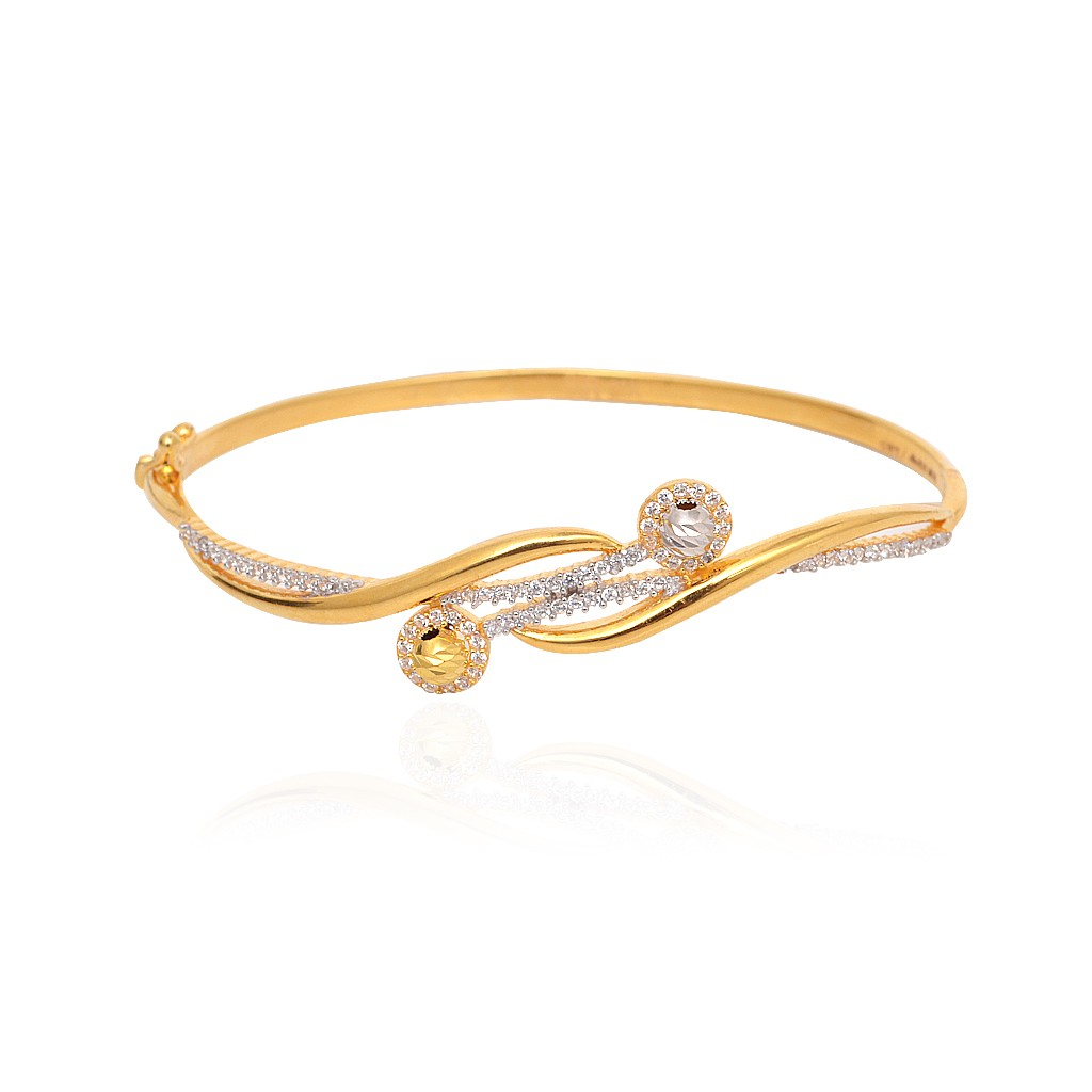 bangles bangle kt product tanishq bracelet id buy titan yellow plain gold